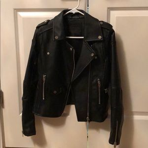 BLANK NYC Faux Leather Moro Jacket